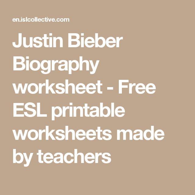 Justin Bieber Biography worksheet - Free ESL printable worksheets made by teachers