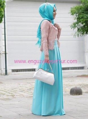 son moda tesettür bayramlık kıyafetler pınar şems turkuaz pudra pembe tesettür kombin http://www.enguzeltesettur.com/kapali-bayram-kiyafetleri-tesetturlu-bayram-kombinleri/