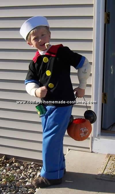 how to make a popeye costume