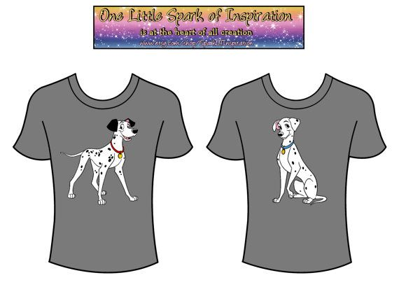 His & Hers - Pongo and Perdita Disney Matching Couples T-Shirts