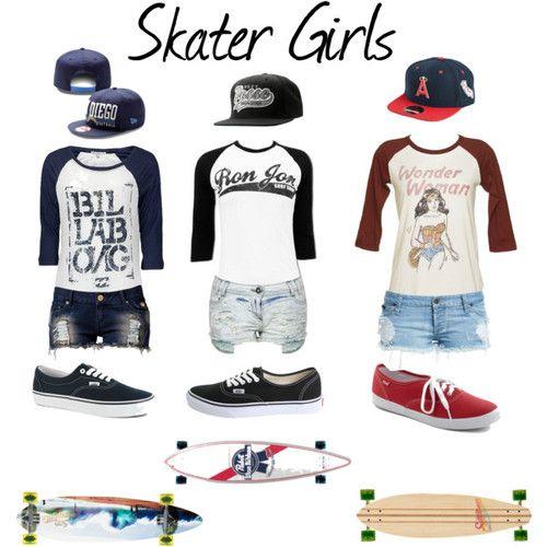 Skater+Girl+Clothes | Skater Girls - Polyvore | We Heart It