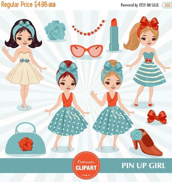 80% OFF SALE Pin up girl clipart, Chic clipart, Fashion clipart, Diva clipart, Glamour clipart, Girl clipart, Vintage girl clipart - CA443 by PremiumClipart on Etsy https://www.etsy.com/uk/listing/446546898/80-off-sale-pin-up-girl-clipart-chic