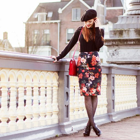 More looks by Sonja Vogel: http://lb.nu/retrosonja  #elegant #preppy #retro #hat #beret #colorful #smart #glam #street