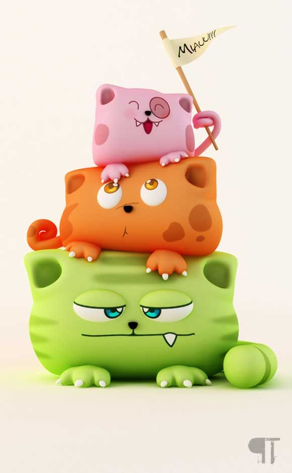 Cute Cartoon Characters | Cute 3D Cartoon Characters and Models ★ Find more at http://www.pinterest.com/competing