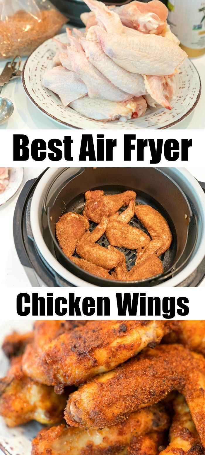 Best Air Fryer Chicken Wings With A Dry Rub Airfryer
