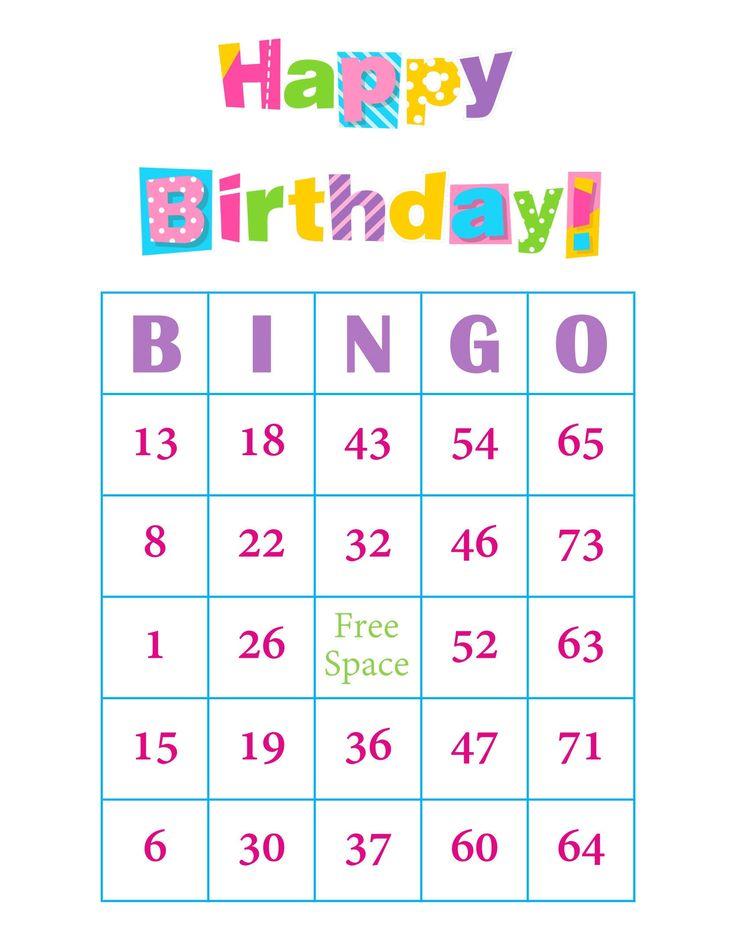 Birthday Bingo Cards 200 cards prints 1 per page immediate