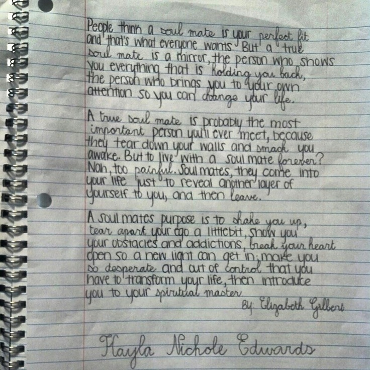 The fact that this is handwritten in a school notebook just kills me to death. So lovely.