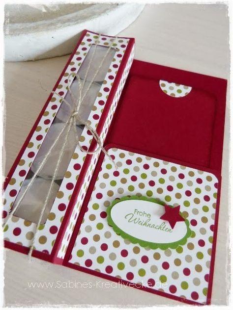 Teelichtkarte für 4 Lichter mit Einstecktasche, Designerpapier Stilmix, Anleitung