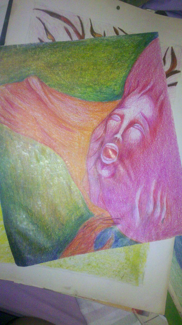 Dibujo a crayon