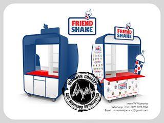 Desain Logo | Logo Kuliner |  Desain Gerobak | Jasa Desain dan Produksi Gerobak | Branding: Desain Gerobak Bubble Friend Shake