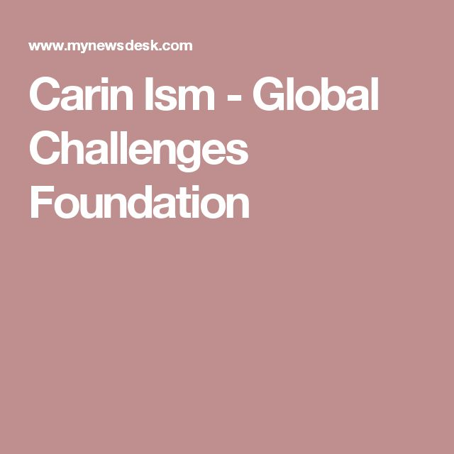 Carin Ism - Global Challenges Foundation