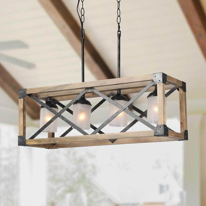 Rectangle Box Pendant Light 4 Lights