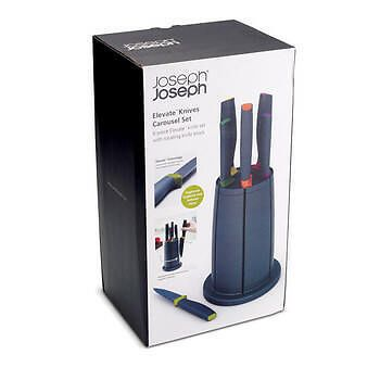 JOSEPH JOSEPH  6 piece Elevate Knives & Carousel knife block set REVOLVING