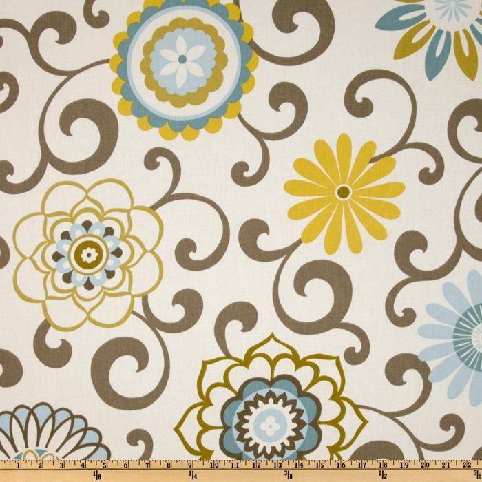 Waverly Pom Pom Play Spa - Discount Designer Fabric - Fabric.com