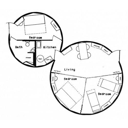 Buckminster fuller twin cylinder dymaxion deployment unit for Dymaxion house plans