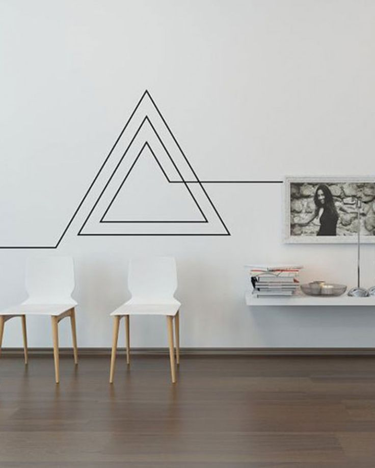 bca3d8895b68f35bb30b9f85ba2e8266 - DIY living room decoration masking tape