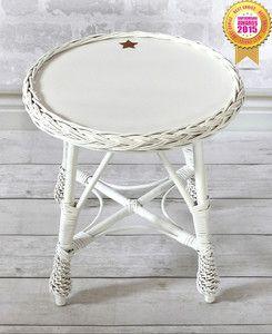 Stolik wiklinowy okrągły © + KOLORY