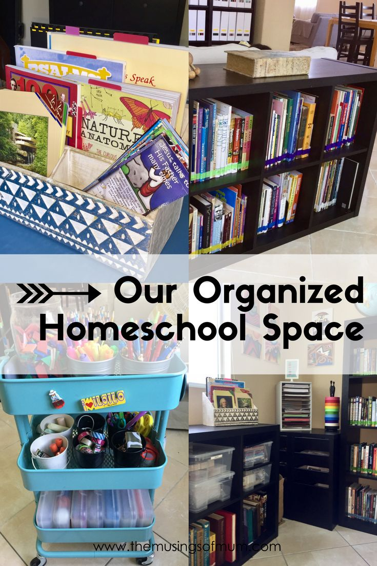 Our Organized Homeschool Space