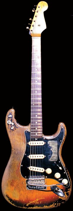 """""""Number One""""    Acquired by Stevie in 1974 from Ray Hennig's Heart of Texas Music, Austin, Texas. Price: $0; value now estimated at $1,000,000.    Age: Number One was disassembled by Fender Custom Shop employees in 2003, and they stated that the neck is from December '62 and the body is a '63. So Number One can rightly be called a '63 Strat. Pickups are 1959, which is why Stevie referred to it as a '59."""
