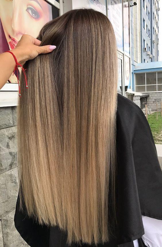 Diejenigen die mit Blonde und Braune Haarfarbe geh…