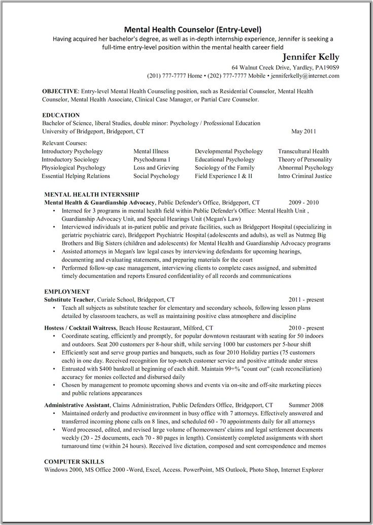 Counseling Resume 7 Best Cv Images On Pinterest  Resume Resume Cover Letters And .