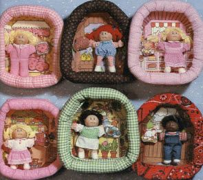 Cabbage Patch Kid Pin Ups - I completely forgot that I had one of these until I saw this. I'm pretty sure I had the brown-lined one in the top row.