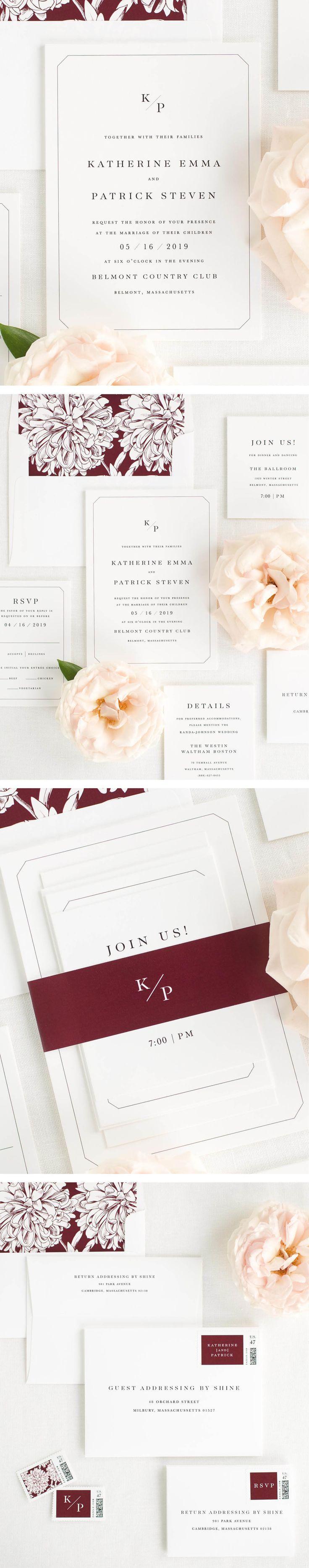 katherine wedding invitations - Modern Wedding Invitation
