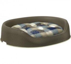 Legowisko dla psa Curver L z poduszką,  praktyczne uchwyty do przenoszenia, otwory wentylacyjne, antypoślizgowe brzegi #legowisko #pies #psa #Curver