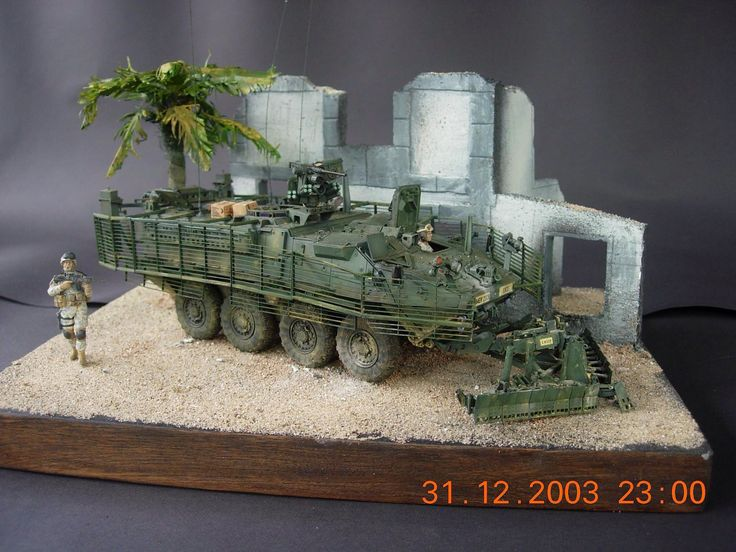 1/35 US.Army Stryker w/mine plough by ademodelart