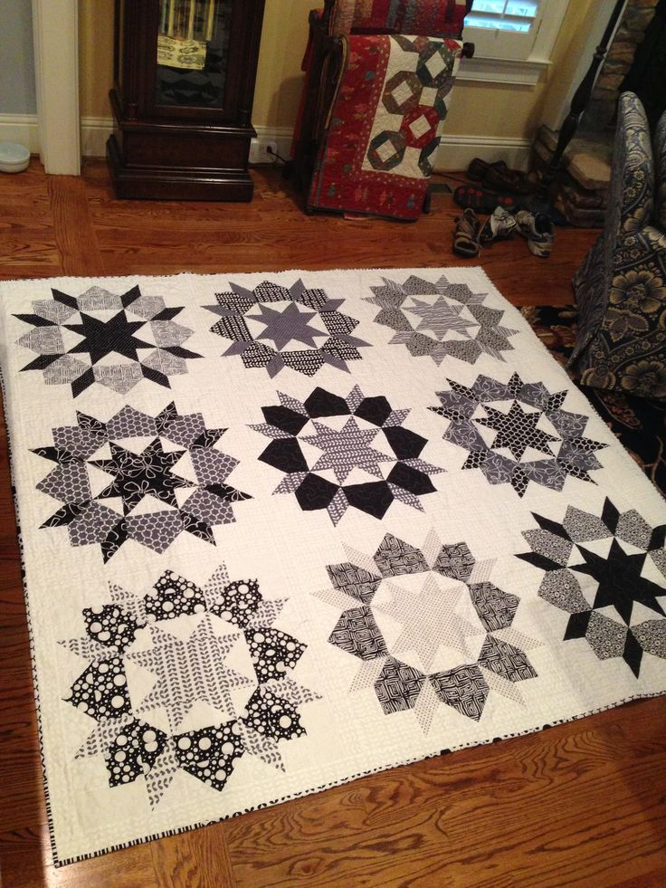My Swoon Quilt. Pattern by Camille Roskelley and fabric line 50 Shades of Black by Me & My Sister.