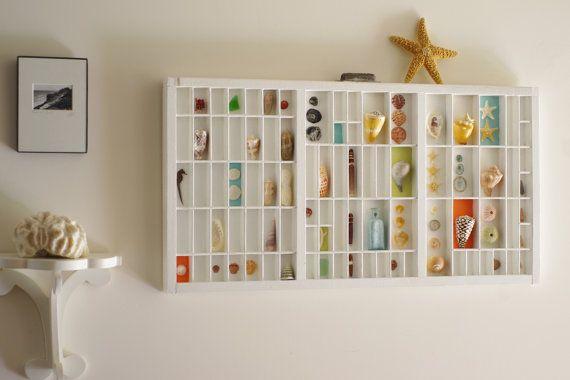 Vintage Printers Tray Seashell Shadow Box di ByTheSeashoreDecor, $350.00