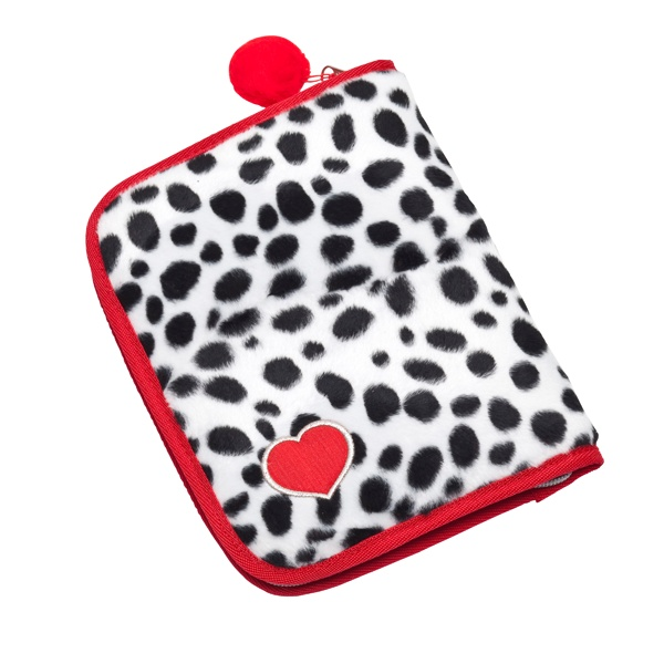 This super-cute dalmation, notebook pencil case comes fully stocked with coloured pencils, texters, an eraser and pencil sharpener - all for $17.95. What a bargain! #Back_To_School #Pencil_Case #Too_Cool_For_School #Harlequin_School_Bags