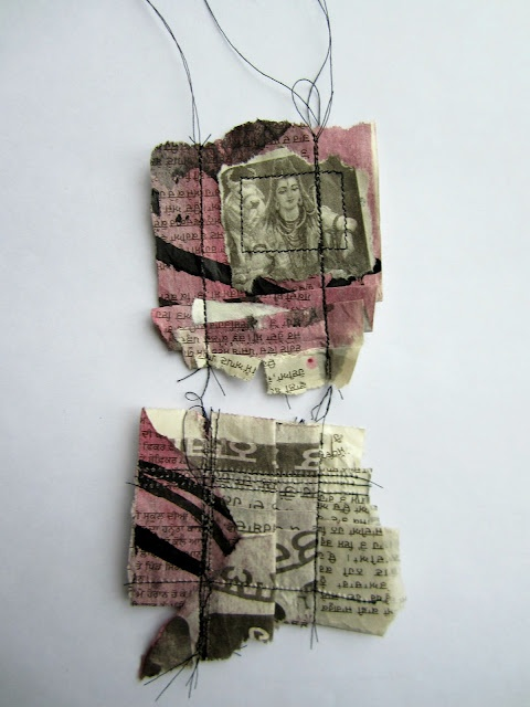 Great use for mixed media. Could also be used to screenprint images on fabric, then assemble.