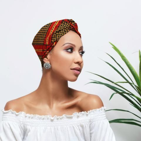 Up your hair game this fall with these cute head wraps – A drop of black   – Natural hair