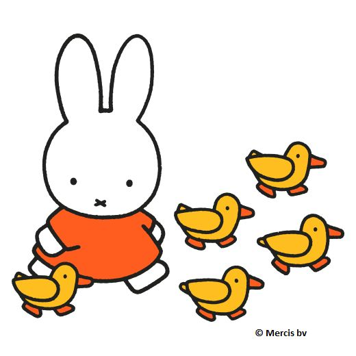 Miffy with the ducks