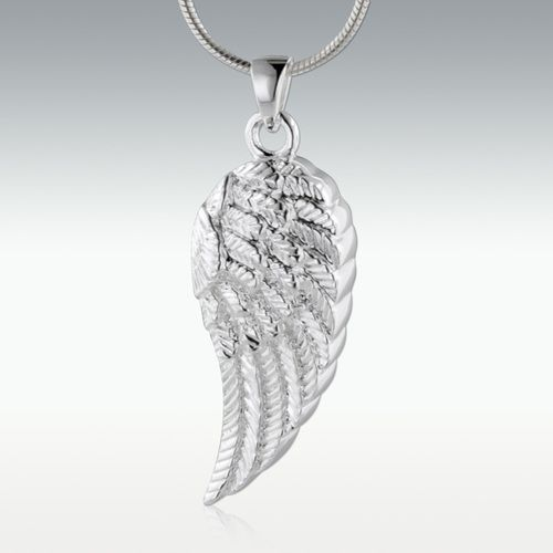 Wing of an Angel Sterling Silver Jewelry - Engravable