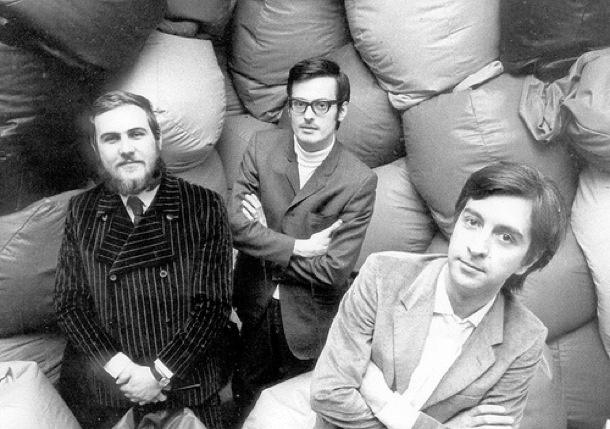 Piero Gatti, Cesare Paolini and Franco Teodoro, designers of the Zanotta Sacco