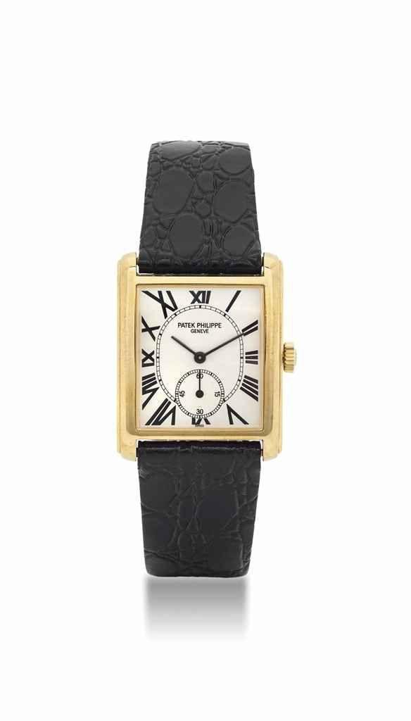Patek Philippe. An 18K gold rectangular wristwatch. circa 2000. #watch #ChristiesWatches