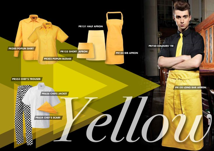If yellow is in your brand colours, here's how you can use the colour to build out a variety of staff uniforms from Premier Clothing.
