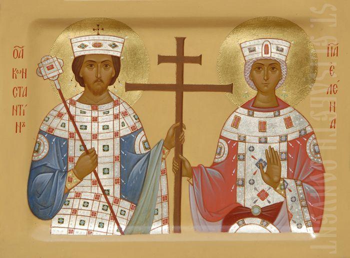 Icon of st Constantine and Helen    #CatalogOfGoodDeeds #icon #iconography #orthodoxicon #orthodoxiconography #buyicon #ordericon #iconographers #holytrinity #Handpainted #Saintconstantin #sainthelen