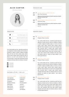 Modern Resume Template & Cover Letter Icon Set por OddBitsStudio