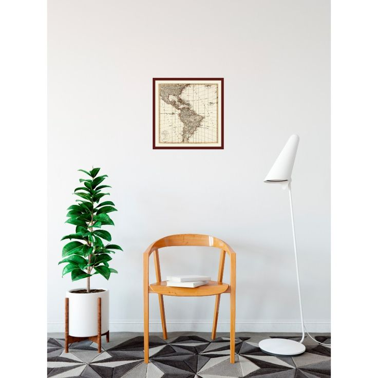 North America Map Quiz Physical Features%0A Latin America  Historical Wall Map  handmade paper print  Ideal hallway  decor  restaurant