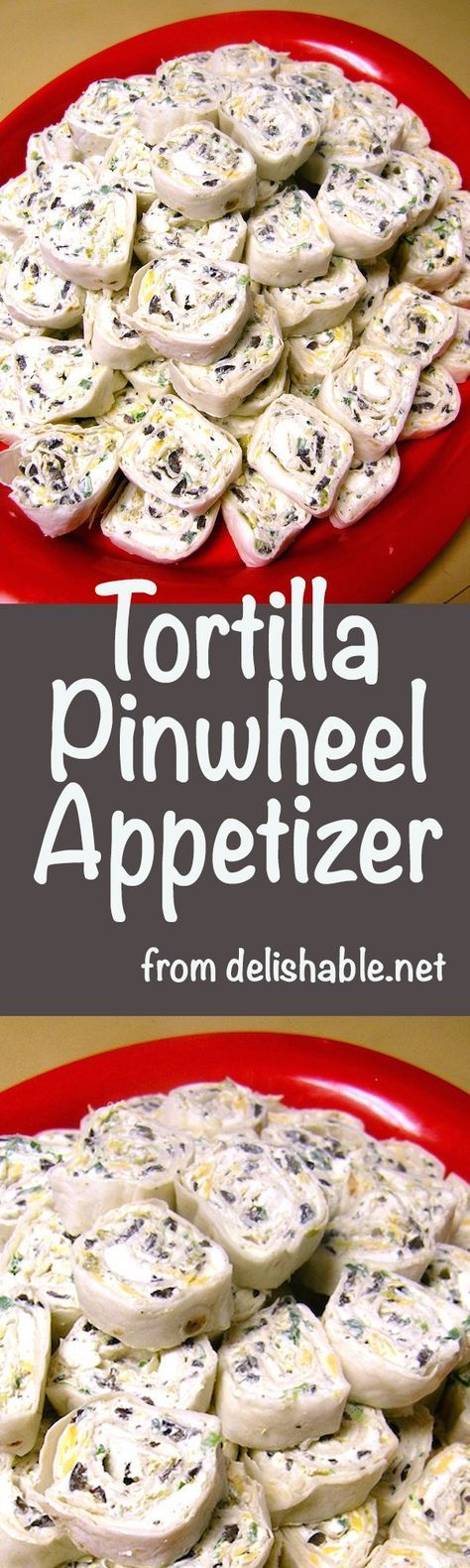 The FUN thing about Tortilla Pinwheel Appetizers is there are so many ways to make them. And they are always a hit at any party or potluck!   delishable.net