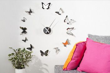 Łatwy i prosty sposób na designerskie wnętrze!  http://www.kreocen.pl/produkt/Interior-Zegar-Butterfly-18_529_1983967.html