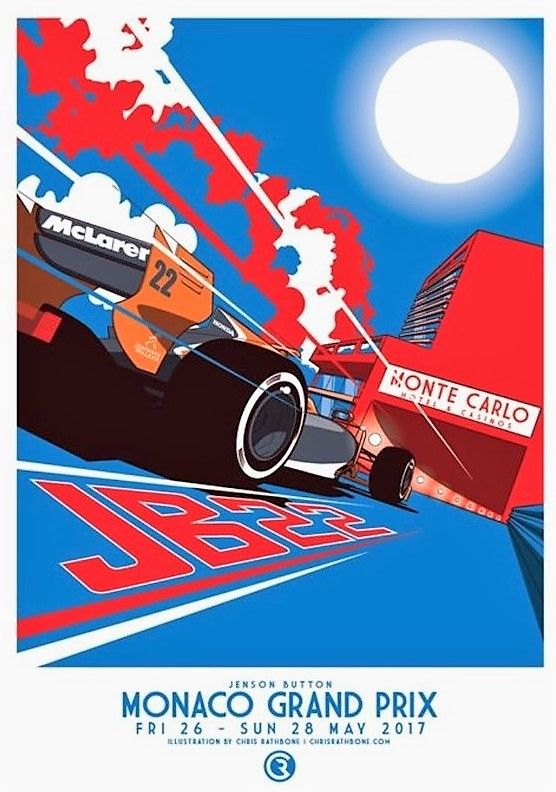 Monaco grand prix 2017 art by chris rathbone