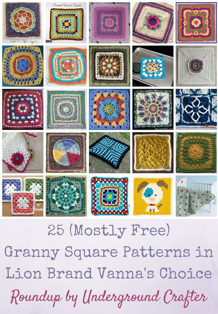 Roundup: 25 (mostly free) crochet granny square patterns ...