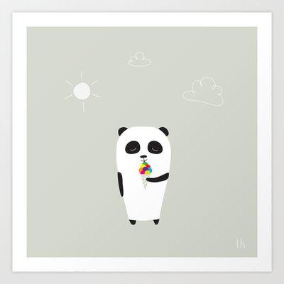 The Happy Ice Cream Art Print by GretaZserbo - $19.00