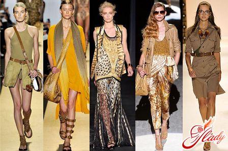 красивый стиль сафари в одежде