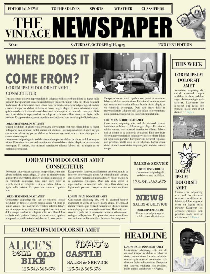 Newspaper Format Google Docs Inspirational Newspaper Layout Newspaper Format Newspaper Generator Free