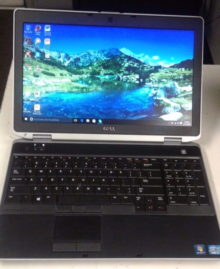 Fast Dell Latitude e6530 Laptop with win 10 pro 500gb hd 4gb ram and i7 cpu